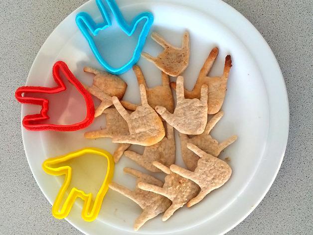 手势形饼干模具切割刀 3D模型  图2