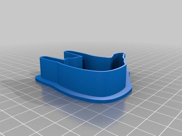 手势形饼干模具切割刀 3D模型  图4