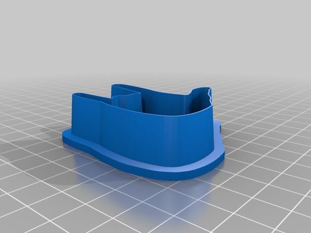 手势形饼干模具切割刀 3D模型  图3