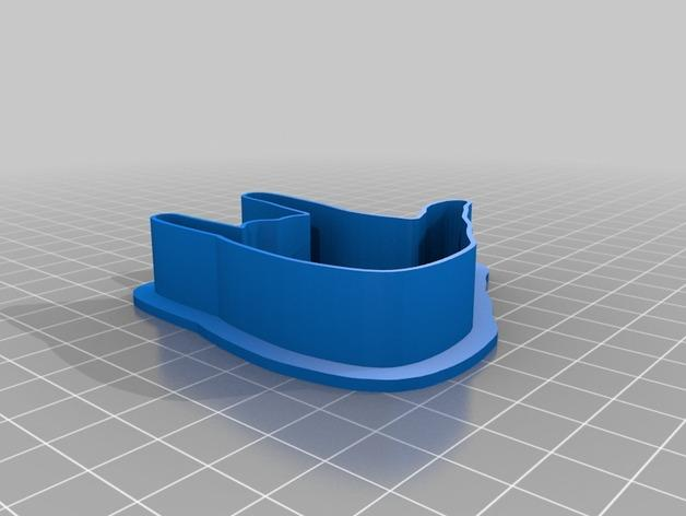 手势形饼干模具切割刀 3D模型  图6