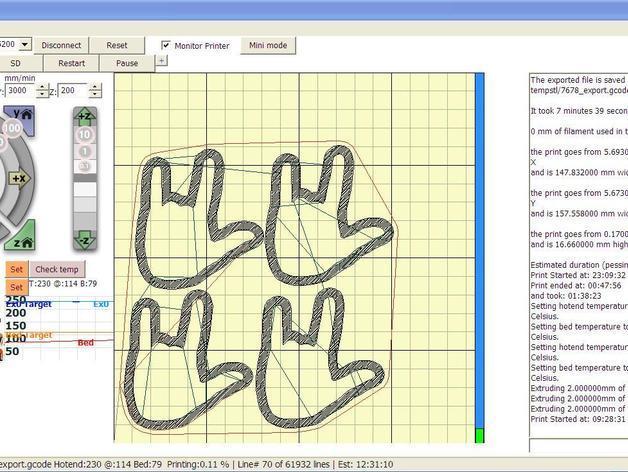 手势形饼干模具切割刀 3D模型  图13