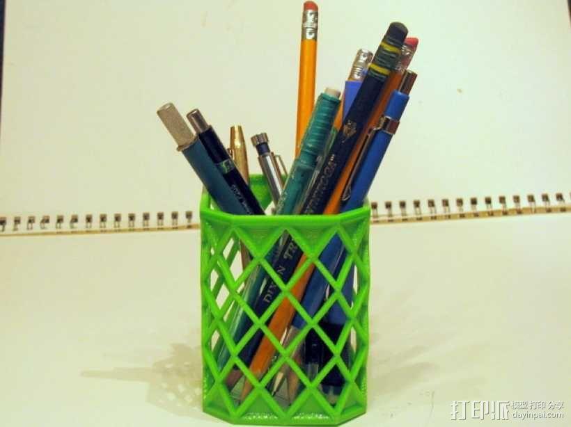 菱形镂空笔筒 3D模型  图1