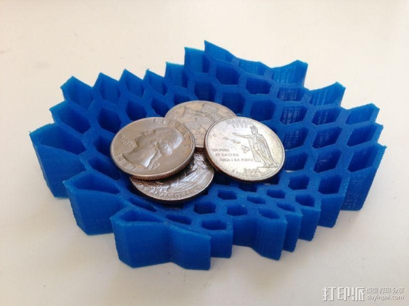 蜂巢形托盘 3D模型  图1