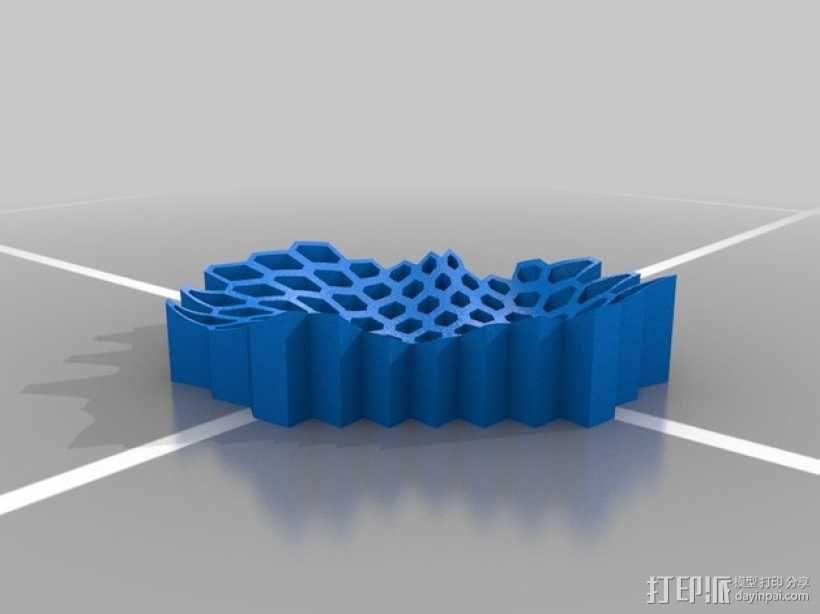 蜂巢形托盘 3D模型  图2