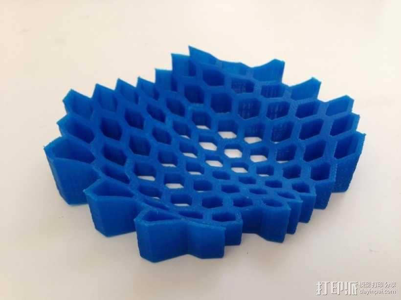 蜂巢形托盘 3D模型  图3