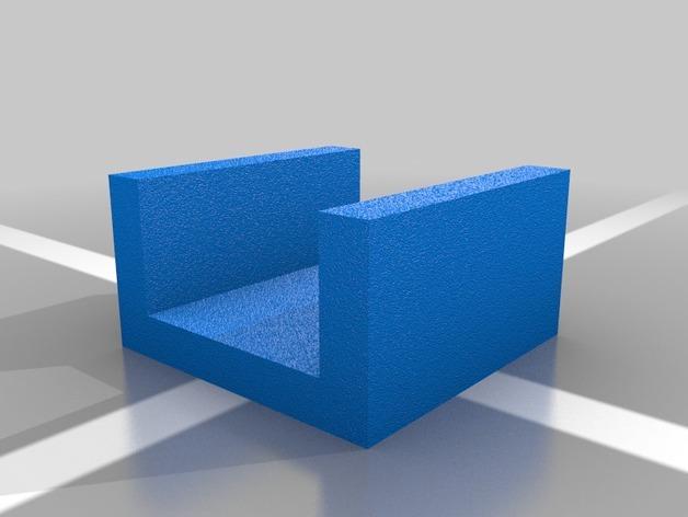 平板门毛巾架 3D模型  图2