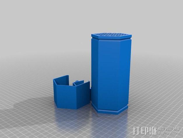 参数化红切叶蜂蜂笼 3D模型  图3