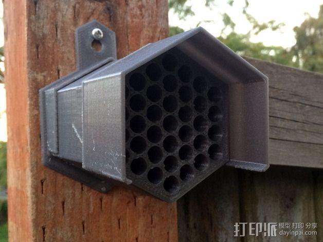 参数化红切叶蜂蜂笼 3D模型  图1