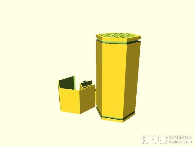 参数化红切叶蜂蜂笼 3D模型  图2