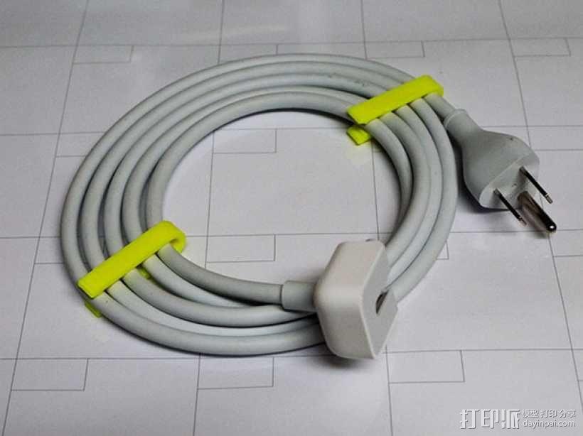 Mac电源线夹 3D模型  图4