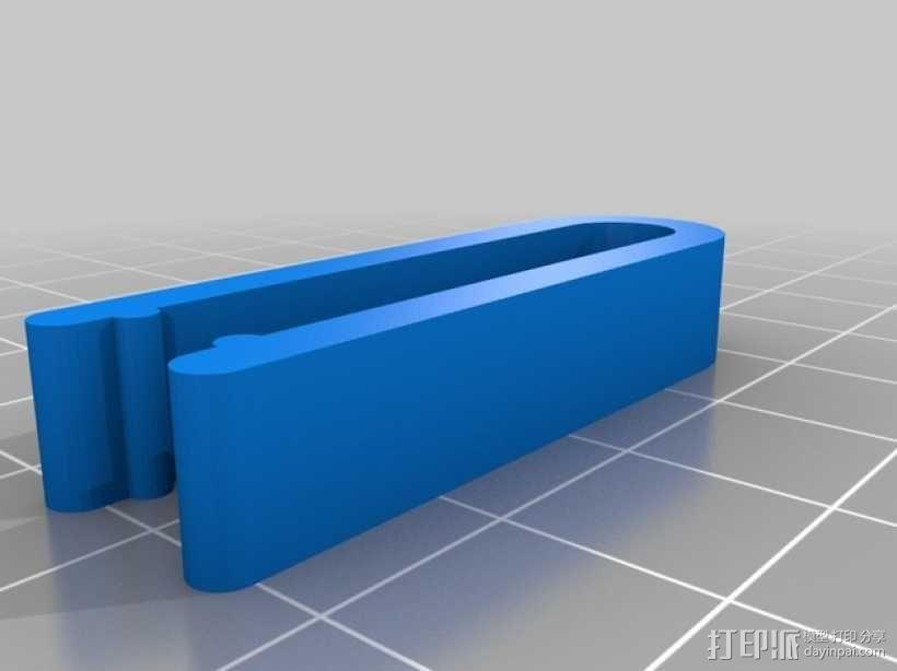 Mac电源线夹 3D模型  图2