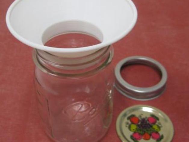 罐头瓶漏斗 3D模型  图1