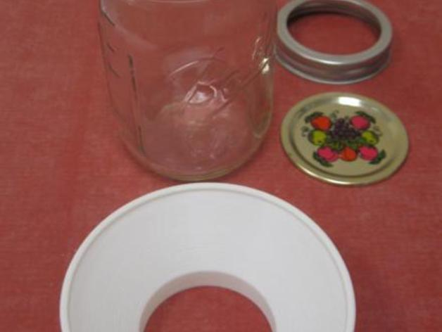 罐头瓶漏斗 3D模型  图3
