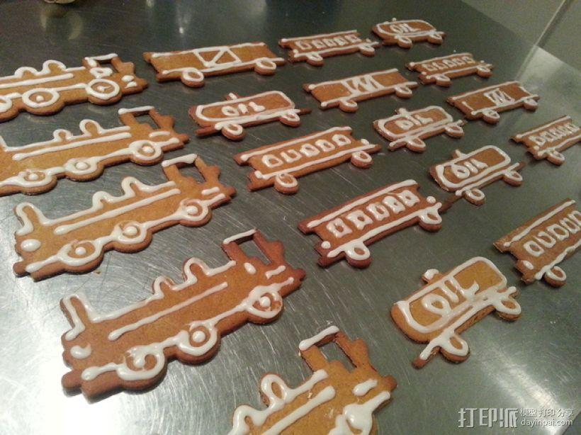 火车形饼干模具切割刀 3D模型  图1