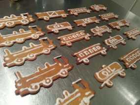 火车形饼干模具切割刀 3D模型