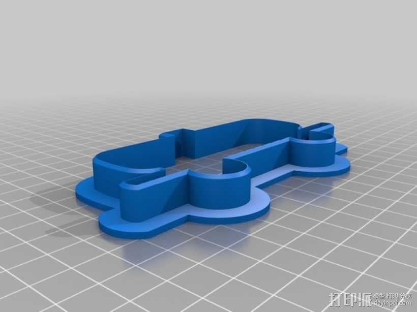 火车形饼干模具切割刀 3D模型  图7