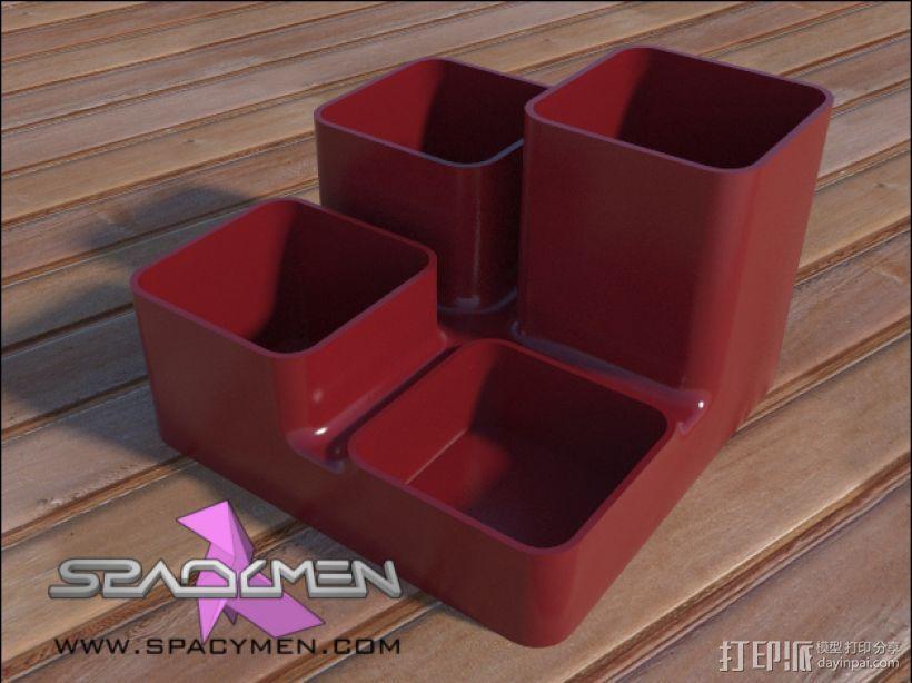 零碎杂物收纳盒 3D模型  图1