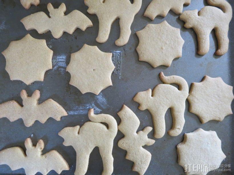 万圣节饼干模具切割刀 3D模型  图1