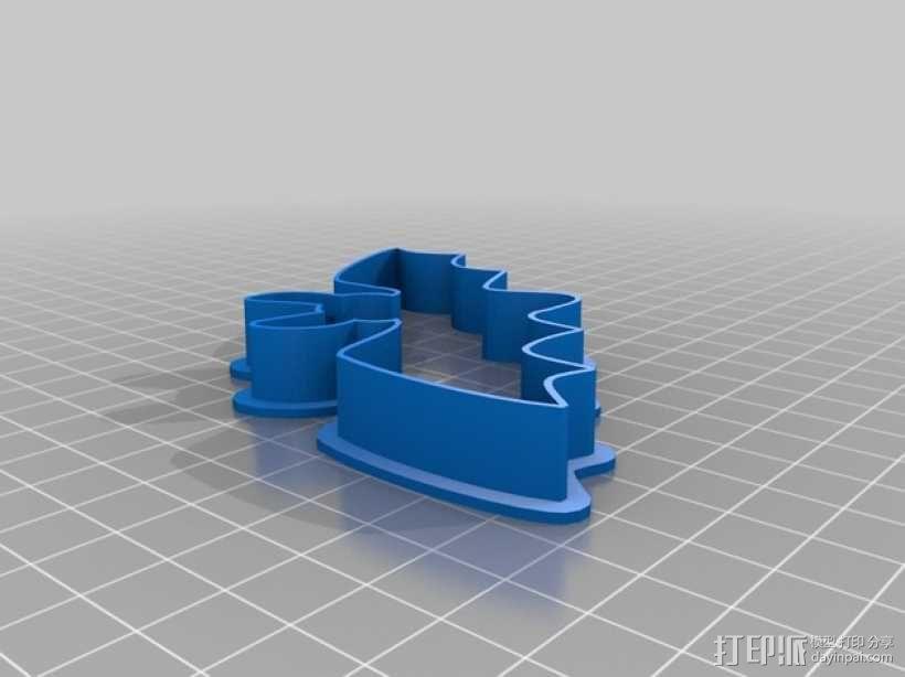 万圣节饼干模具切割刀 3D模型  图3