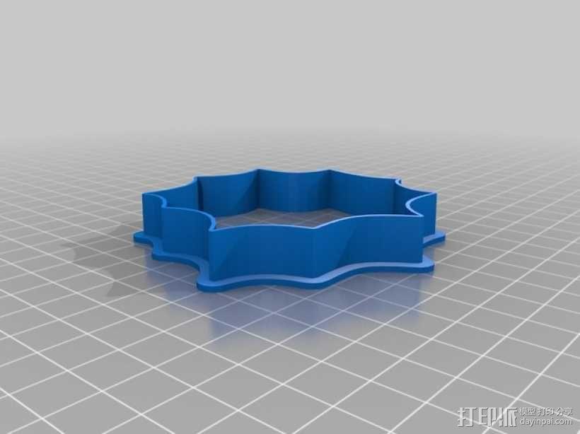 万圣节饼干模具切割刀 3D模型  图2