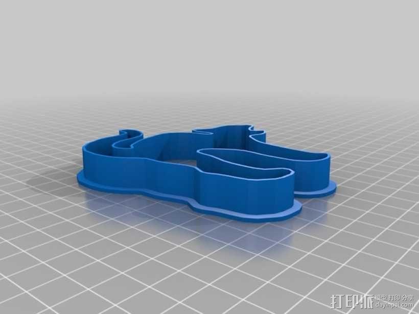 万圣节饼干模具切割刀 3D模型  图4