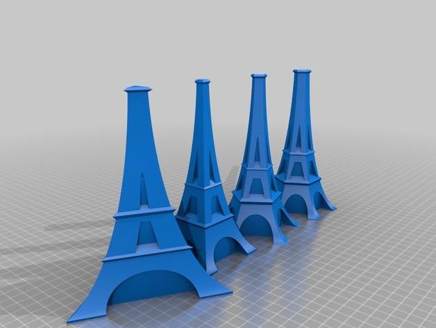 艾菲尔铁塔形花瓶 3D模型  图2