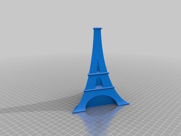 艾菲尔铁塔形花瓶 3D模型  图3
