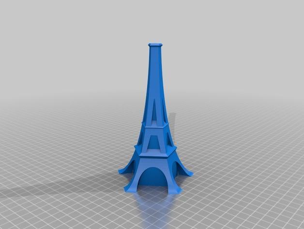 艾菲尔铁塔形花瓶 3D模型  图5