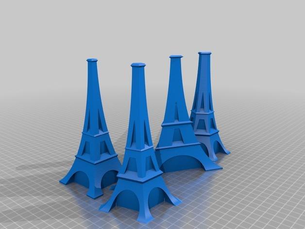 艾菲尔铁塔形花瓶 3D模型  图7