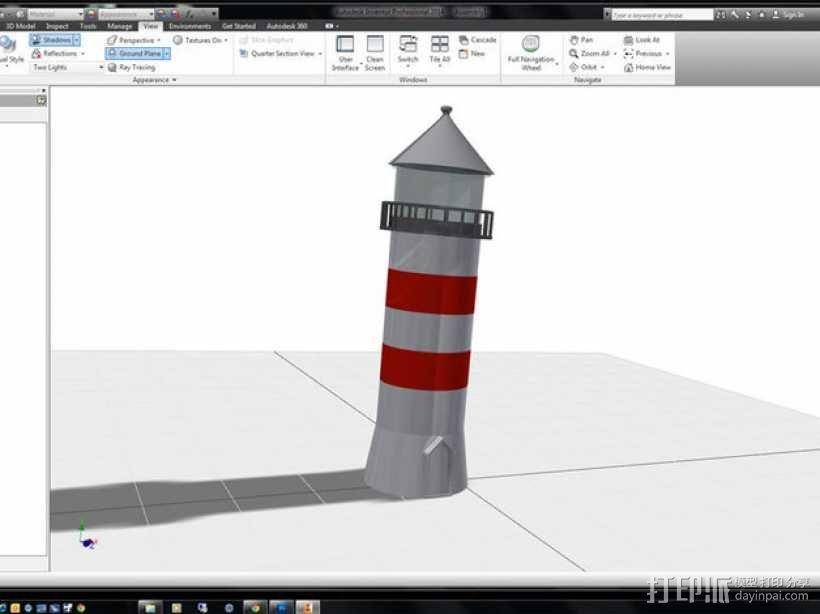 迷你数字灯塔 3D模型  图5