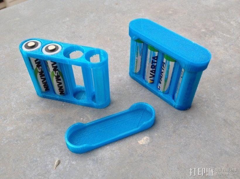 AA电池电池盒 3D模型  图1
