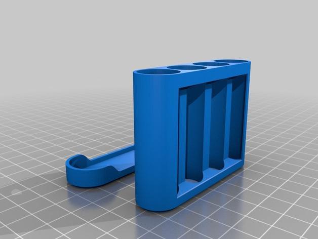 AA电池电池盒 3D模型  图2