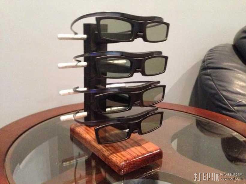 3D打印眼镜架 3D模型  图1