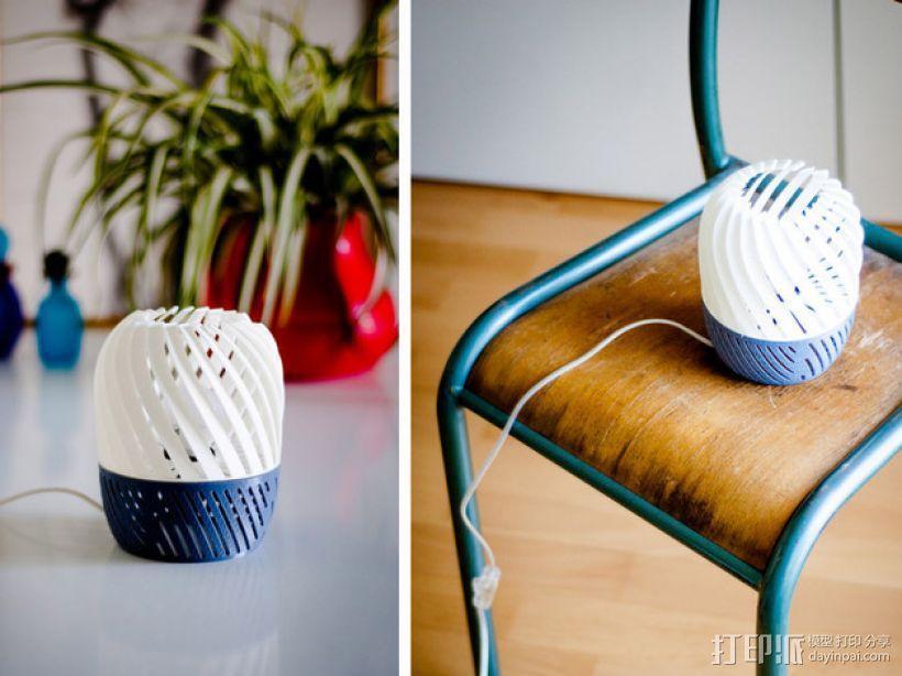 螺旋形灯罩 3D模型  图1