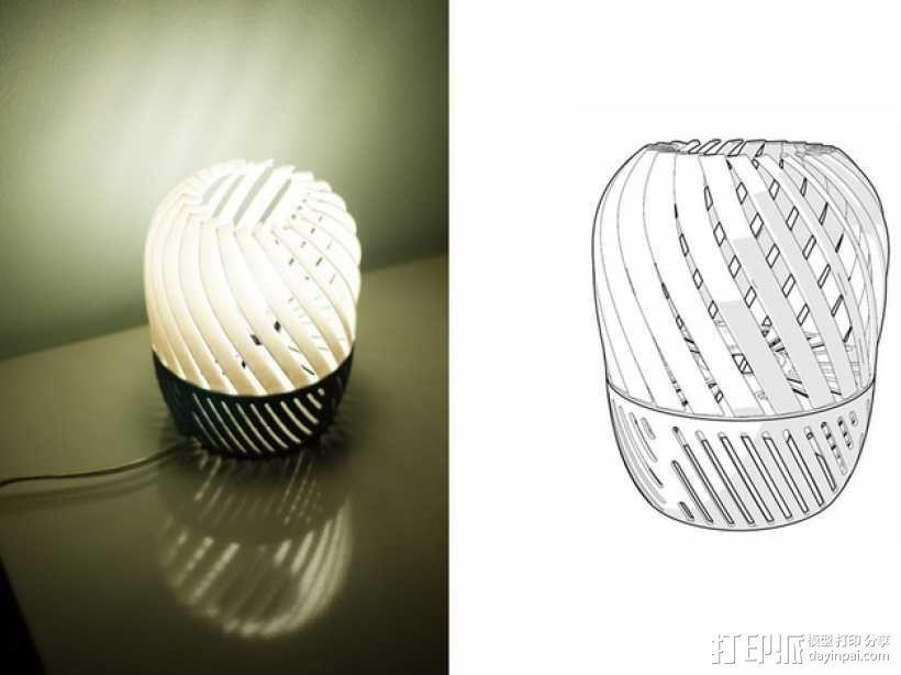 螺旋形灯罩 3D模型  图4
