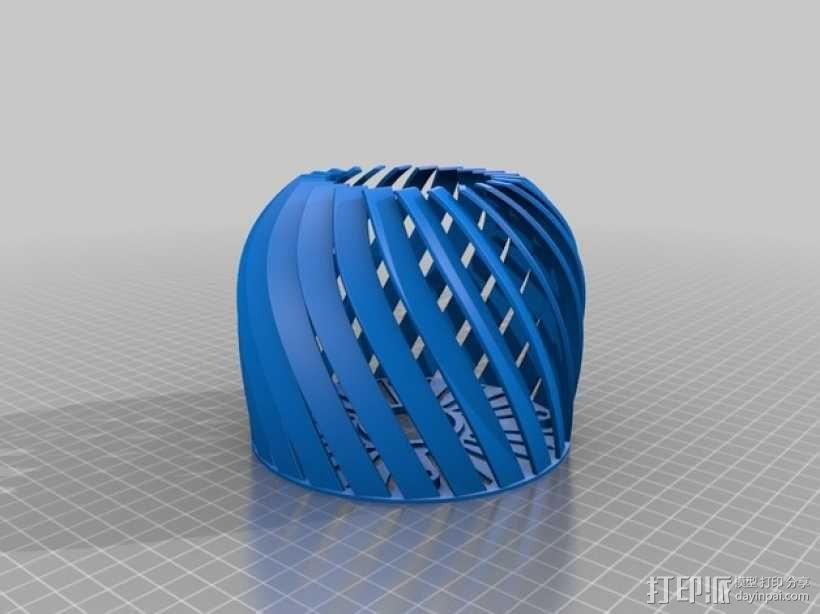 螺旋形灯罩 3D模型  图7