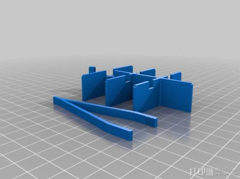 Altoids口香糖盒分隔板 3D模型  图2