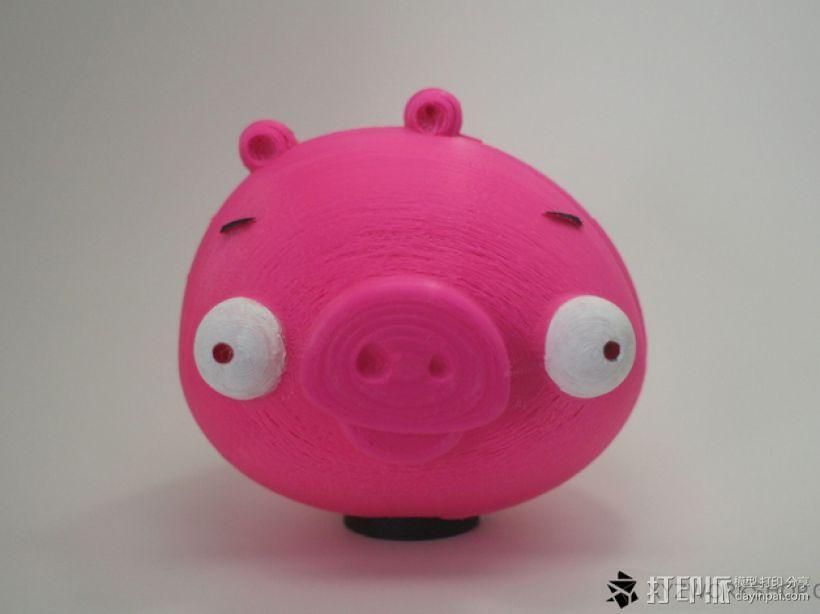 愤怒的小鸟小猪存钱罐 3D模型  图3