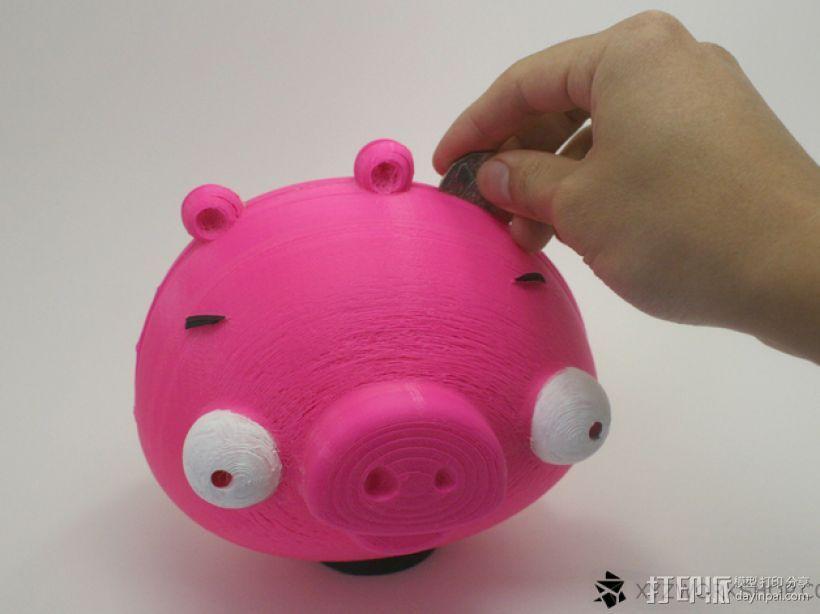 愤怒的小鸟小猪存钱罐 3D模型  图1