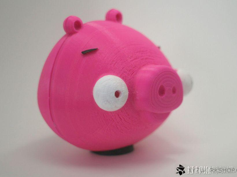 愤怒的小鸟小猪存钱罐 3D模型  图4