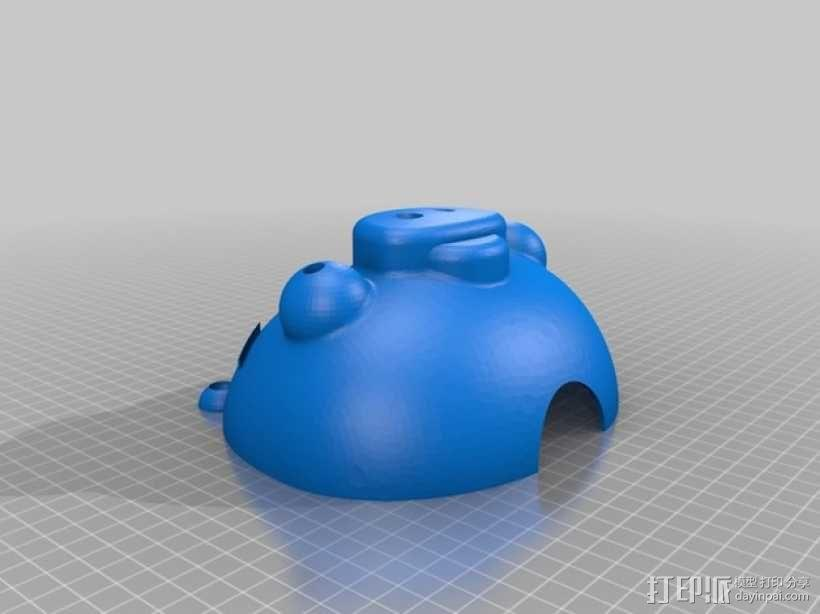 愤怒的小鸟小猪存钱罐 3D模型  图6