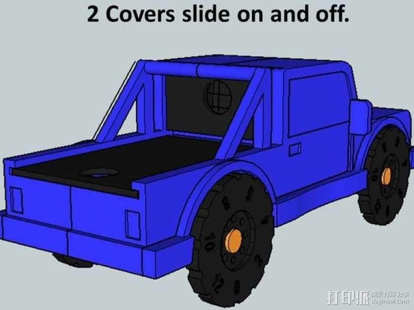 卡车形文具盒 3D模型  图6