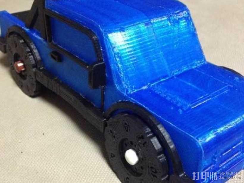 卡车形文具盒 3D模型  图4