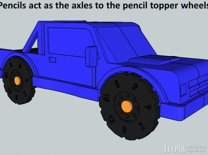 卡车形文具盒 3D模型  图5