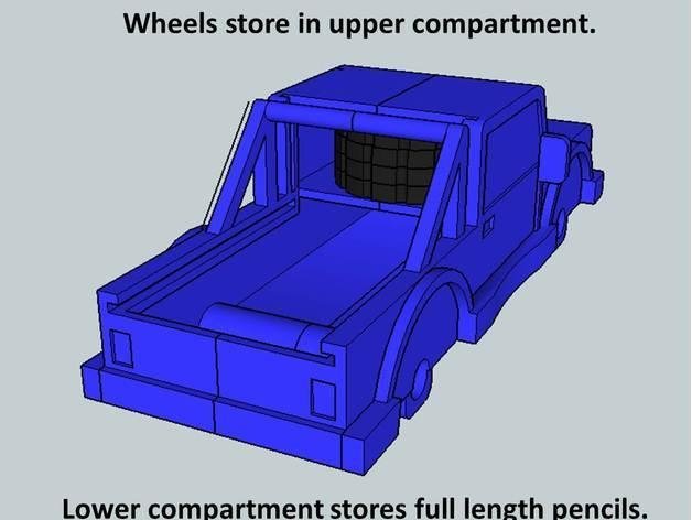 卡车形文具盒 3D模型  图7