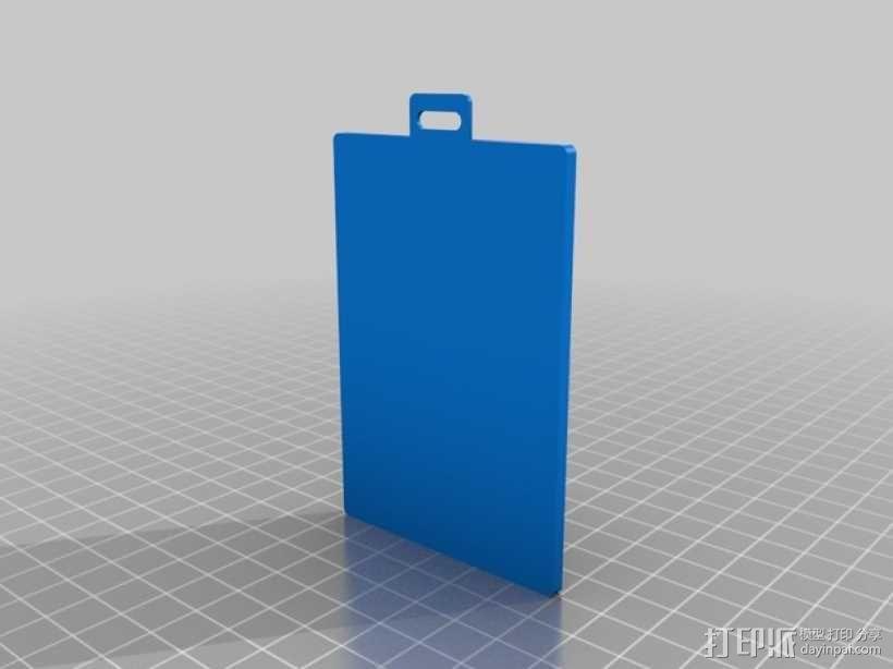 身份证卡套 3D模型  图3