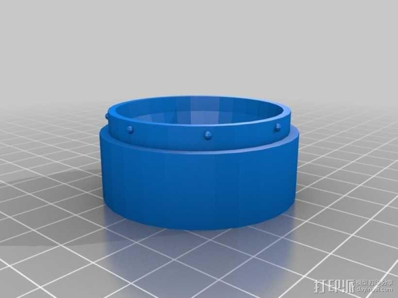 定制化圆形冰块模具 3D模型  图4