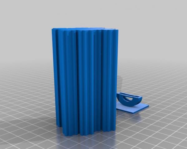 不规则方形LED灯罩 3D模型  图2
