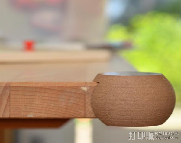 简易圆形桌角套 3D模型  图4