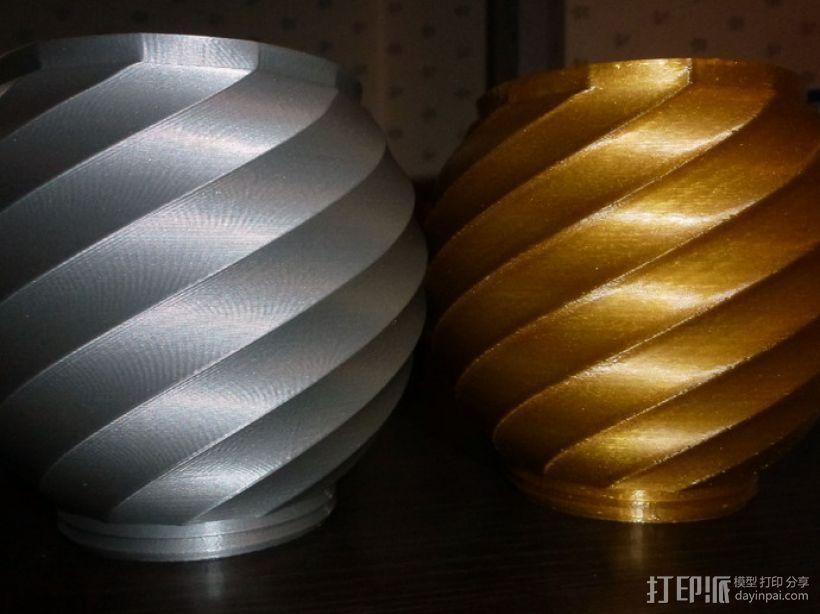 螺旋形瓮/缸 3D模型  图1